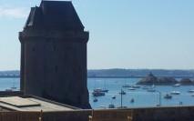 Tour Solidor et barrage de la Rance à Saint Malo